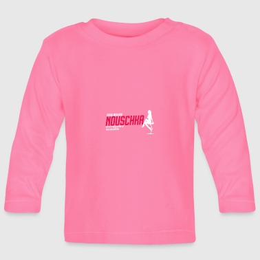 Nouschkasplay Sporty Logo Twitch pink_white_01 - Baby Long Sleeve T-Shirt