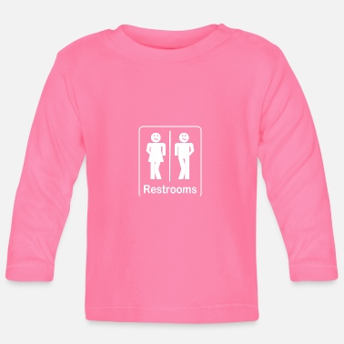 Restroom Restrooms - Toilets Shirt - Baby Long Sleeve T-Shirt
