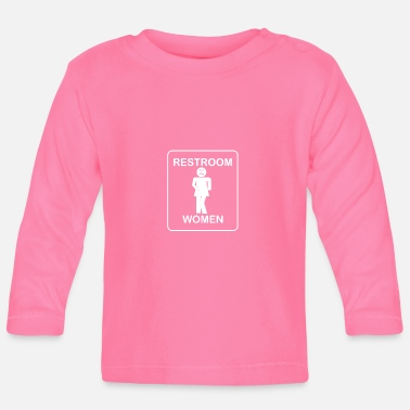 Restroom RESTROOM WOMAN - Toilet Women Shirt - Baby Long Sleeve T-Shirt