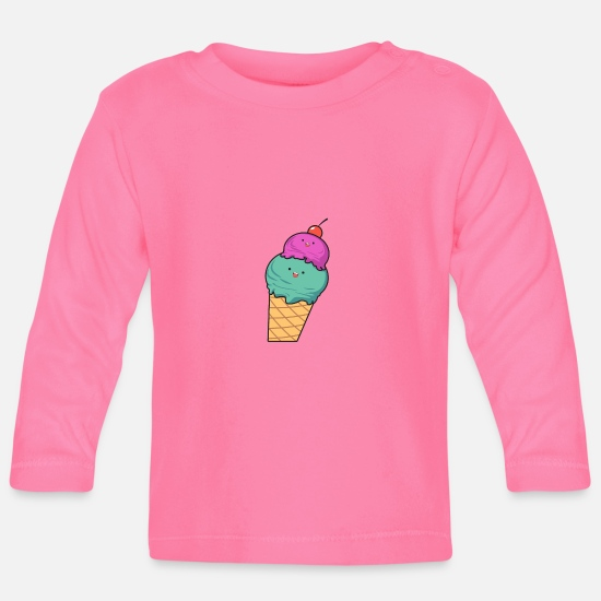 Love Baby Clothes - Ice cream - Baby Longsleeve Shirt azalea