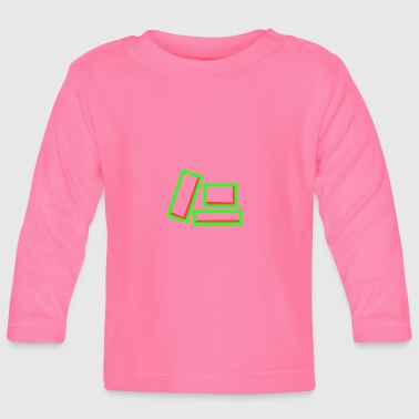 Quadrat Box positive - Baby Long Sleeve T-Shirt