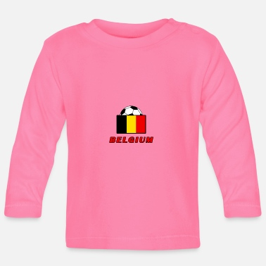 Nationalmannschaft BELGIEN Nationalmannschaft Design - Baby Langarmshirt