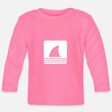 Shark Fin Shark shark fin shark fin waves sea - Baby Long Sleeve T-Shirt