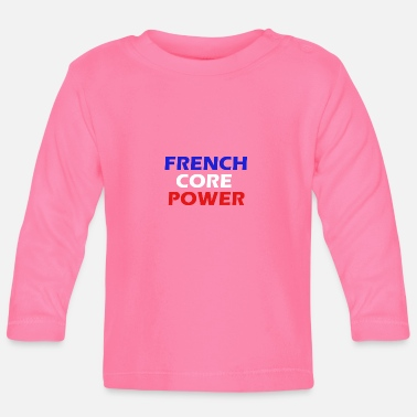 Hardstyle Frenchcore Power Simple Heren / Dames - Baby longsleeve