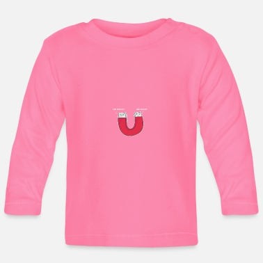 Magnet The Horseshoe Magnet - Science Magnet Gift - Baby Long Sleeve T-Shirt
