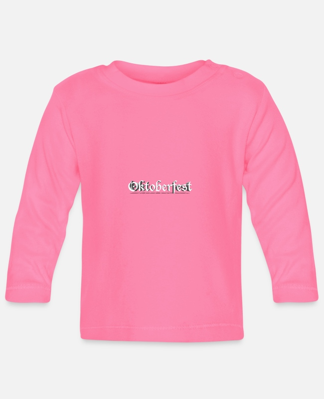 Leather Pants Baby Long-Sleeved Shirts - Oktoberfest 2018 Oktoberfest Munich Costume Costume Shirt - Baby Longsleeve Shirt azalea