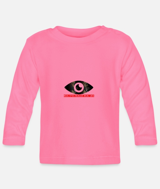 Fold Baby Long-Sleeved Shirts - Real Eyes Realize Real read - Baby Longsleeve Shirt azalea