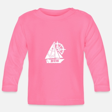 Anchor Sailing Ship Marine Steering Wheel Bub - Baby Longsleeve Shirt