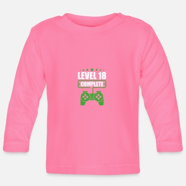 Video Game Console Level 18 comlete gamer gift gambling - Baby Longsleeve Shirt