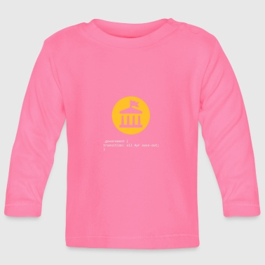 Css CSS Pun: Government - Baby Long Sleeve T-Shirt
