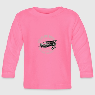 Aeroplane airplane fly flying lifting engine flight - Baby Long Sleeve T-Shirt