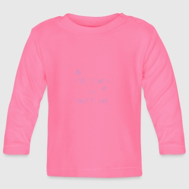 Milk mom and rocknroll pink - Baby Long Sleeve T-Shirt