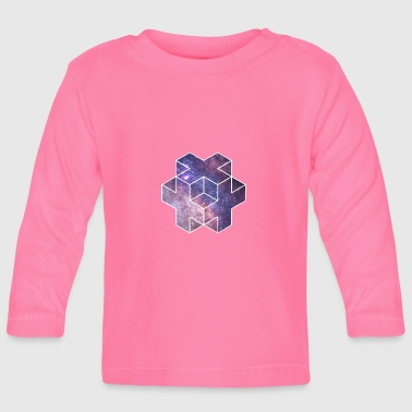 Galaxy Plus Dice Star Astro Space Nasa - Baby Long Sleeve T-Shirt