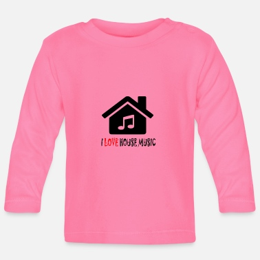 House House Music House Party Shirt - Langarmet baby T-skjorte