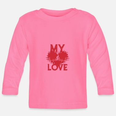 Biking MY LOVE BIKING - Baby Longsleeve Shirt