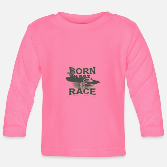 Birthday Baby Clothes - born to race racer racing tuning 1967 - Baby Longsleeve Shirt azalea