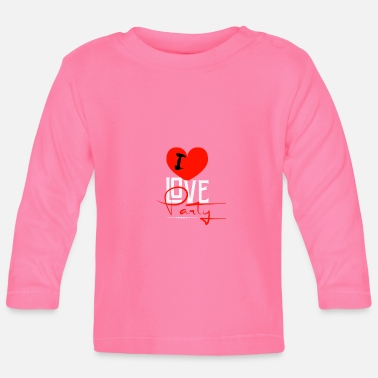 I Love Party I love party - Baby Langarmshirt