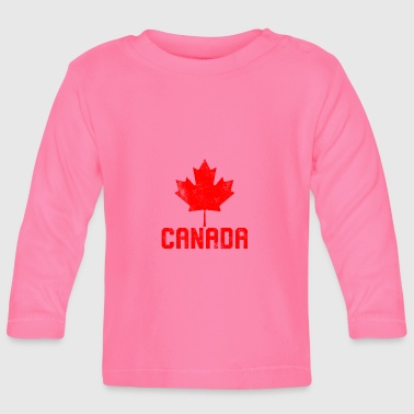 Maple Leaf Flag Canada - Baby Langarmshirt
