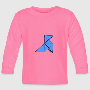 origami paper plane paper airplane6 - Baby Long Sleeve T-Shirt