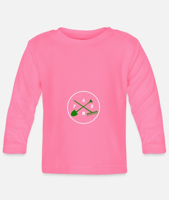 Farm Baby Clothes - Farm with tools - farm with tools - Baby Longsleeve Shirt azalea