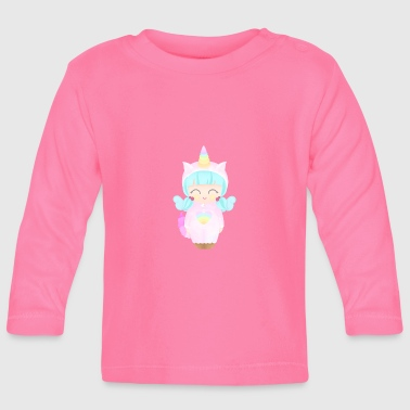 Unicorn Girl - Baby Langarmshirt