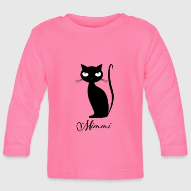 Chic cat Mimmi glamorous for every occasion - Baby Long Sleeve T-Shirt