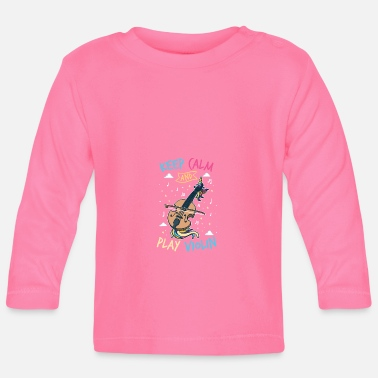 Fiddlestick Unicorn violin: keep calm and play the violin - Baby Longsleeve Shirt