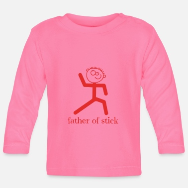 Stick STICK FIGURE Father of stick - Baby Longsleeve Shirt