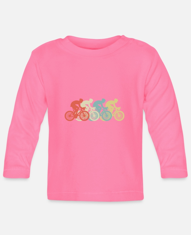 Pilot Baby Langarmshirts - BICYCLES Colorful - Baby Langarmshirt Azalea