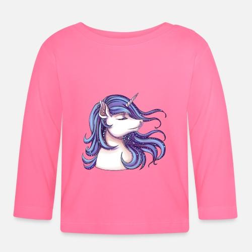 Licorne avec paillettes T-shirt manches longues Bébé   Spreadshirt a9fb756752c