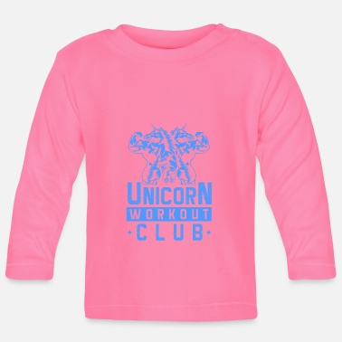 Workout Unicorn workout gear gym fitness - Baby longsleeve