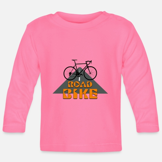 Bike Messenger Baby Clothes - Road Bike - Baby Longsleeve Shirt azalea