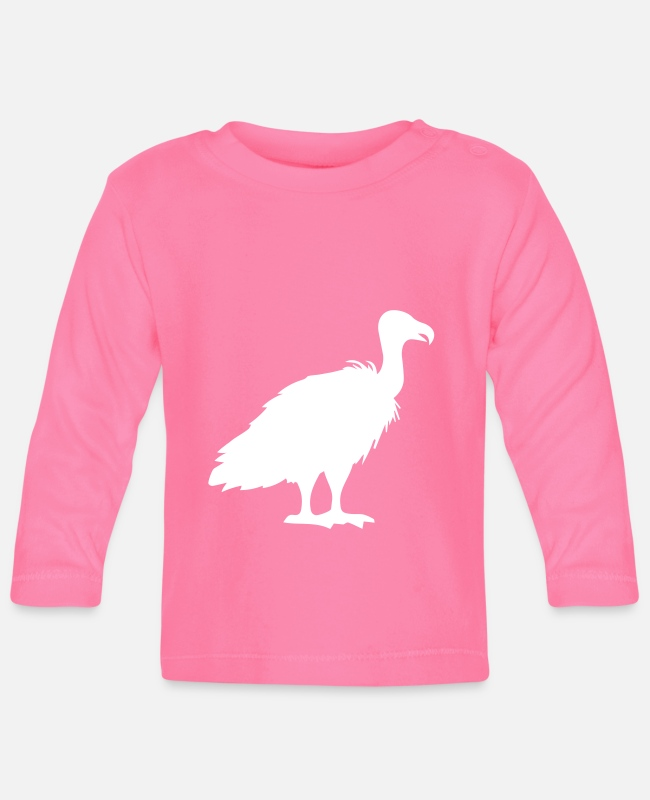 Wild Baby Long-Sleeved Shirts - vulture silhouette - Baby Longsleeve Shirt azalea