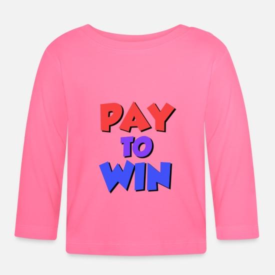 Betal for å vinne (P2W) Langarmet baby T skjorte   Spreadshirt