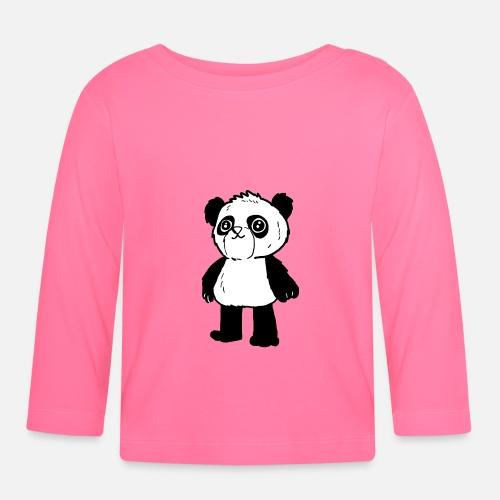 19e58c3ac296c5 Cute Panda - niedlicher Panda Baby Langarmshirt