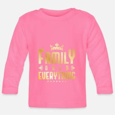 Gold family over everything gold - Baby Langarmshirt