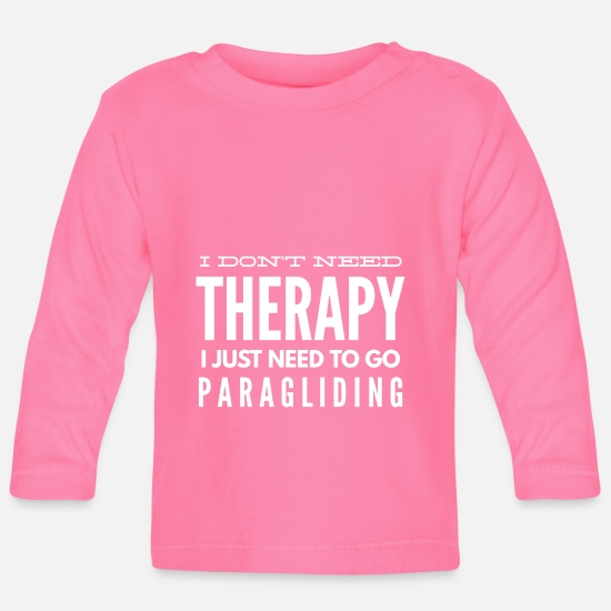 Gift Idea Baby Clothes - Paragliding paraglider and parachute gift 2 - Baby Longsleeve Shirt azalea
