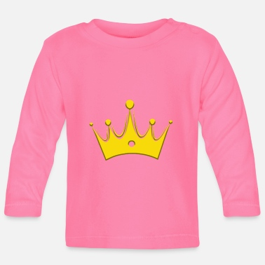 Briljant Crown Crowns King Queen JGA Wedding Bride - Långärmad baby T-shirt