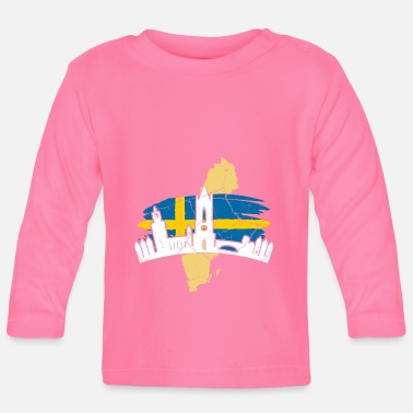 Scandinavia Sweden Stockholm Swedish Scandinavia - Baby Long Sleeve T-Shirt
