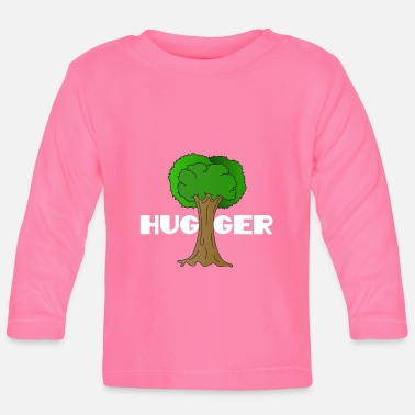 Enviromental Beautiful Nature Tree Tshirt Design Hugger Tree - Baby Longsleeve Shirt