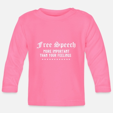 Freedom of speech Freedom of expression Journalist - Baby Longsleeve Shirt
