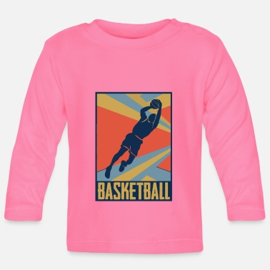 Old School Look de basket old school - T-shirt manches longues Bébé