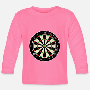 Bar Pub Vintage Dartboard Darts Arrow Pub Bar - Baby Long Sleeve T-Shirt