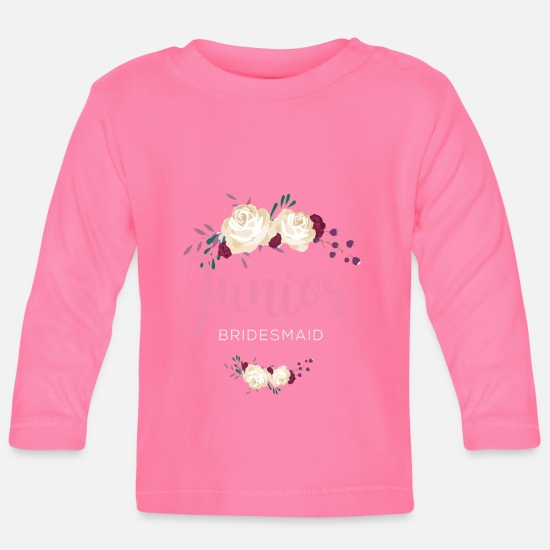 Junior Babykleidung - Junior Brautjungfer - Baby Langarmshirt Azalea