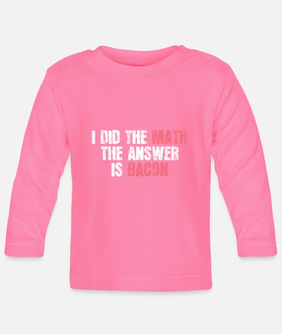 Professor Baby Long-Sleeved Shirts - Mathematical humor - Baby Longsleeve Shirt azalea
