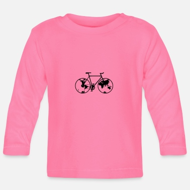 Biking Planet bike, bike, bike, BMX, mountain bike - Baby Longsleeve Shirt