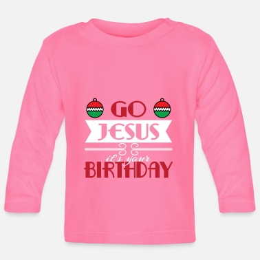 December Hilarious & Joyful Xmas Design Jesus - Långärmad baby T-shirt