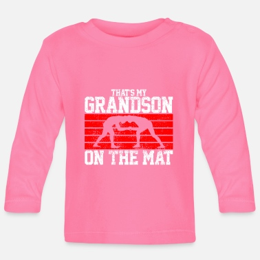 Grappling Wrestling grappling grandson - Baby Longsleeve Shirt