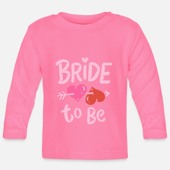 Bride Baby Clothes - bride - Baby Longsleeve Shirt azalea