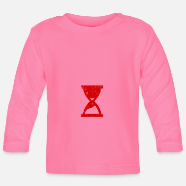 Hour Glass Hours of glass structures red gift - Baby Longsleeve Shirt